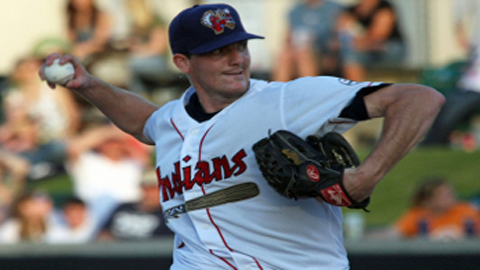 Marty Popham pitched seven no-hit innings for his second time as a pro.