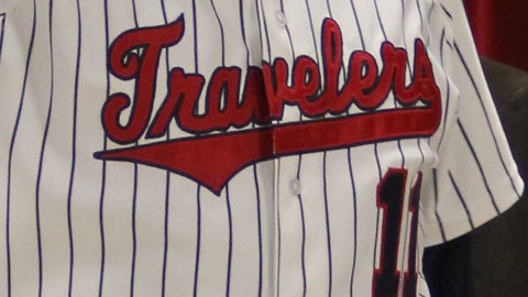 The Travs don pinstripes on their new home uniforms
