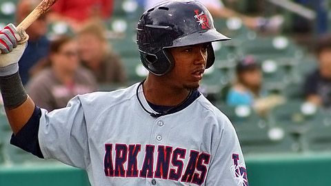 Arkansas' Jean Segura leads the Texas League with 18 stolen bases.